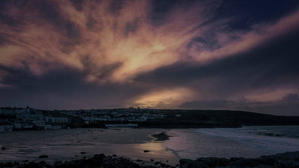 Photograph - Porthmeor Sunset 4 by Eddy Kinol