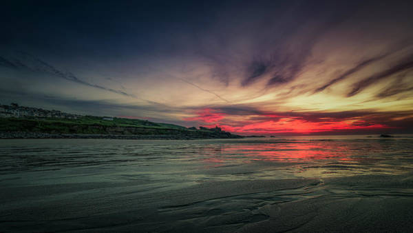 Photograph - Porthmeor Sunset Version 2 by Eddy Kinol