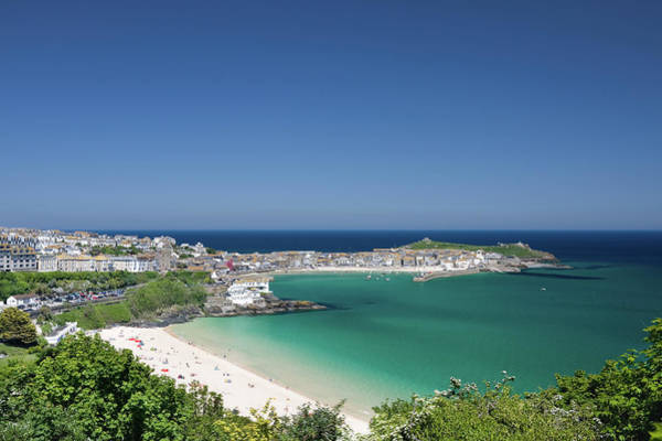 St Ives Photograph - Porthminster Beach And St Ives On The by Lleerogers