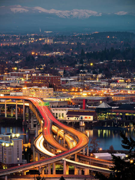 Photograph - Portland At Night by Nicole Young
