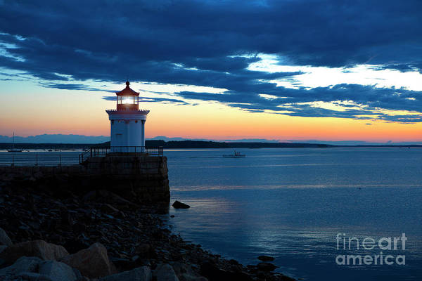 Wall Art - Photograph - Portland Breakwater Light by Diane Diederich