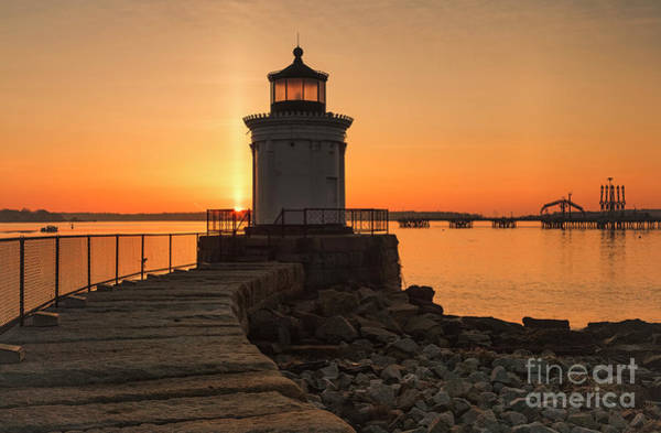 Photograph - Portland Breakwater Lighthouse - Portland Harbor, Maine by Erin Paul Donovan