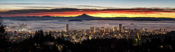 Photograph - Portland Foggy Sunrise by Wes and Dotty Weber