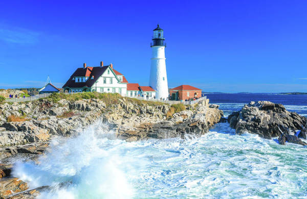 Photograph - Portland Head Light by Dan Sproul
