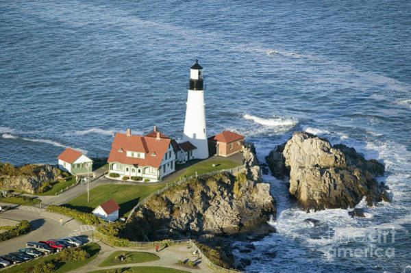 Cliffs Wall Art - Photograph - Portland Head Lighthouse, Cape by Joseph Sohm
