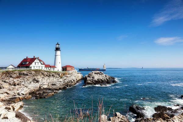 New England Autumn Photograph - Portland Head Lighthouse, Maine by Catlane