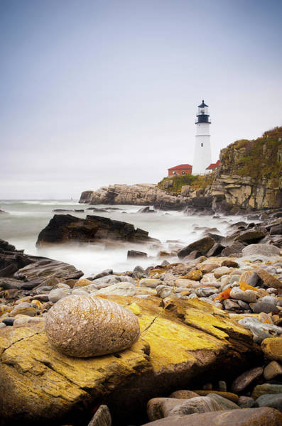 Vertical Landscape Photograph - Portland Head Lighthouse, Portland by Alan Copson / Robertharding