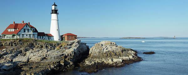 Casco Bay Photograph - Portland Head Lighthouse by S. Greg Panosian