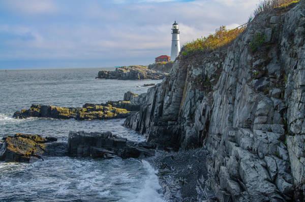 Photograph - Portland Head Lighthouse Seascape by Bill Cannon