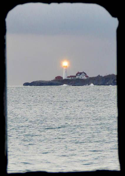 Photograph - Portland Head Lighthouse Through The Gun Port by Keith Stokes