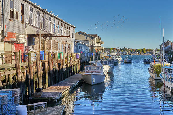 Photograph - Portland Maine Waterfront by Jim Hughes
