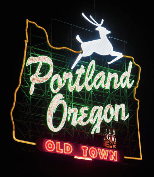 Photograph - Portland Oregon White Stag Sign 071619 by Rospotte Photography