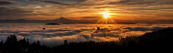 Photograph - Portland Under A Gold Cloud by Wes and Dotty Weber