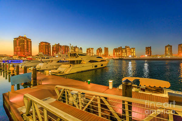 Photograph - Porto Arabia Doha Night by Benny Marty