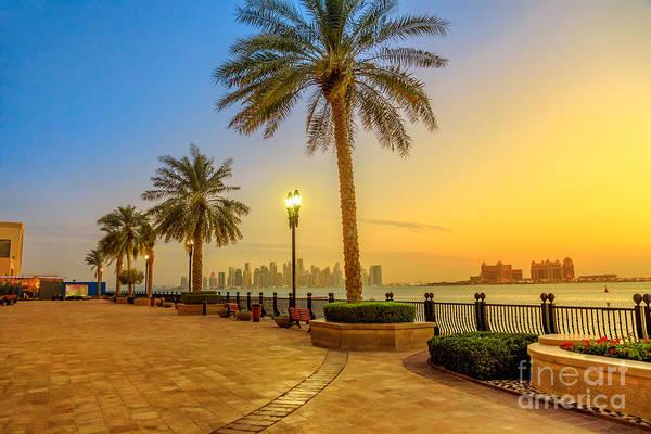 Photograph - Porto Arabia Skyline Sunset by Benny Marty