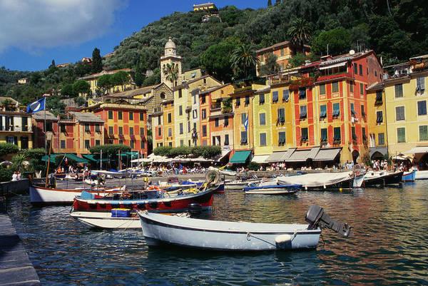 Motorboat Photograph - Portofino, Genoa, Italy by Robertharding