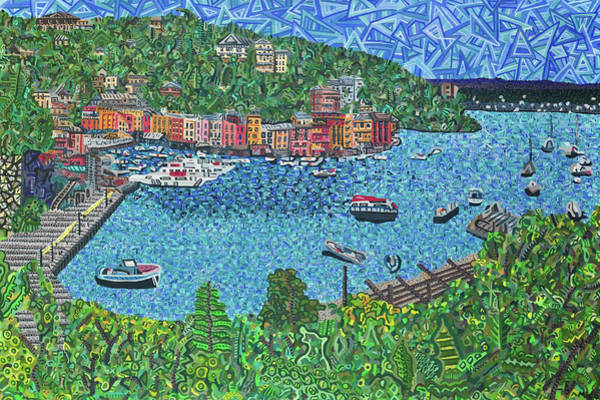 Wall Art - Painting - Portofino, Italy 2 by Micah Mullen