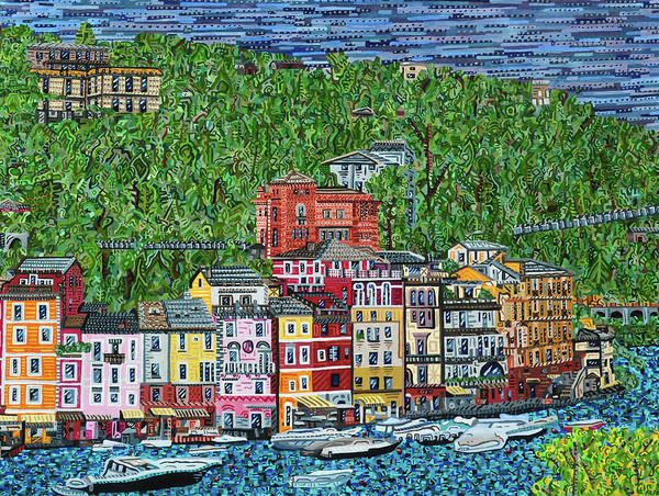Wall Art - Painting - Portofino, Italy by Micah Mullen