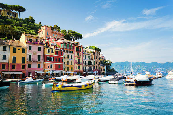 Water Transport Photograph - Portofino, Liguria, Italy by Brzozowska