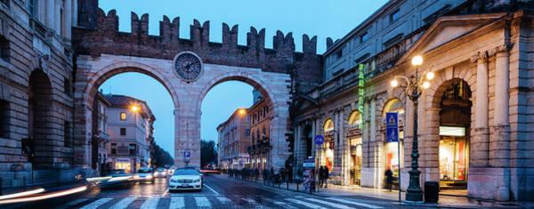 Wall Art - Photograph - Portoni Della Bra Clock Gate, Verona by Panoramic Images