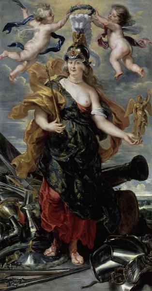 Wall Art - Painting - Portrait De Marie De Medicis, Triumphant Queen by Pierre Paul Rubens