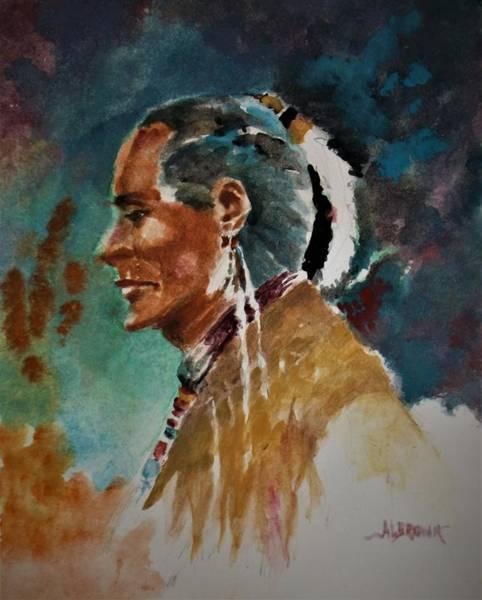 Wall Art - Painting - Portrait In Watercolor  by Al Brown