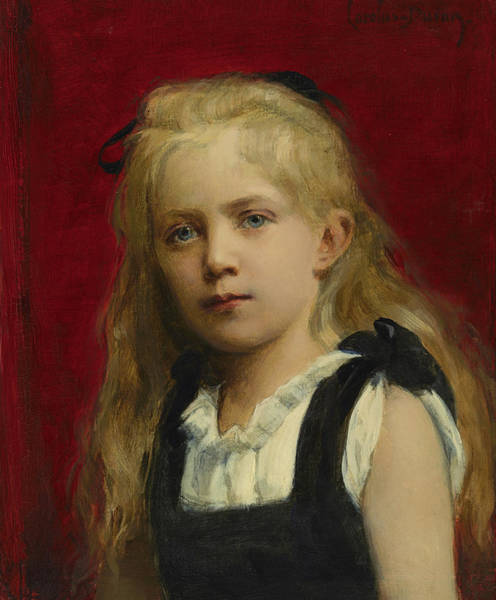 Wall Art - Painting - Portrait Of A Girl, 1880 by Emile Auguste Charles Carolus Duran