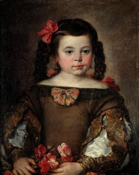 Plaits Painting - 'portrait Of A Girl', Ca. 1660, Spanish School, Oil On Canvas, 58 Cm X 46 Cm, P... by Jose Antolinez -1635-1675-