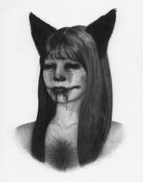 Drawing - Portrait Of A Kumiho - Artwork by Ryan Nieves