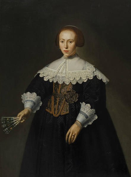Painting - Portrait Of A Lady by Dirck van Santvoort