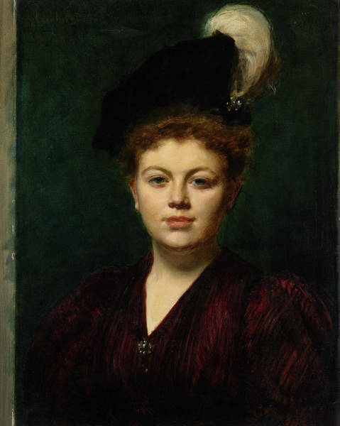 Wall Art - Painting - Portrait Of A Lady, Kharitonenko,1895 by Emile Auguste Charles Carolus Duran