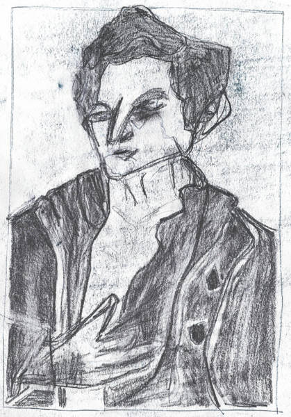 Drawing - Portrait Of A Man 1 by Artist Dot