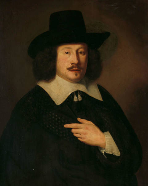 Painting - Portrait Of A Man, 1638 by Pieter Dubordieu