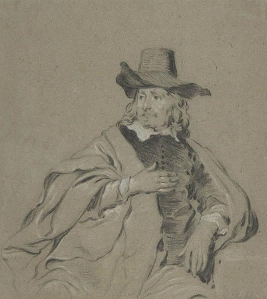 Drawing - Portrait Of A Man, 17th Century  by Jacob Adriaensz Backer