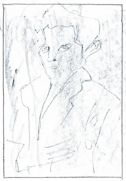 Drawing - Portrait Of A Man 2 by Artist Dot