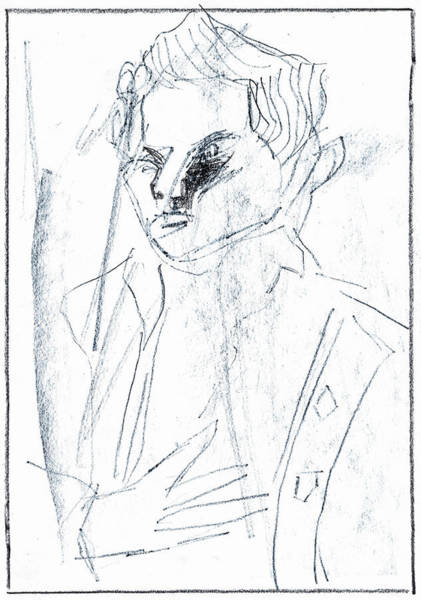 Drawing - Portrait Of A Man 3 by Artist Dot
