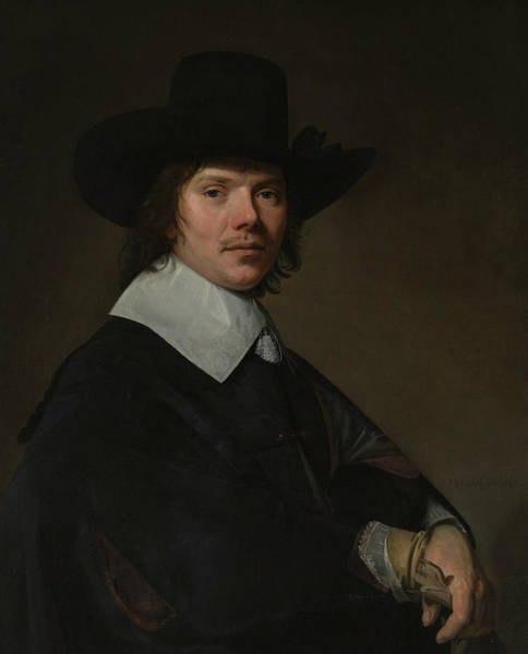 Wall Art - Painting - Portrait Of A Man by Johannes Cornelisz Verspronck