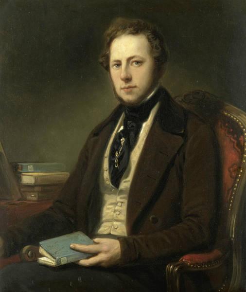 Painting - Portrait Of A Man, Perhaps Petrus Augustus De Genestet  by Nicolaas Pieneman