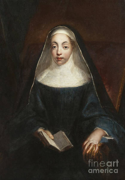 Wall Art - Painting - Portrait Of A Nun Of The Order Of The Holy Annunciation  by Francesco Trevisani