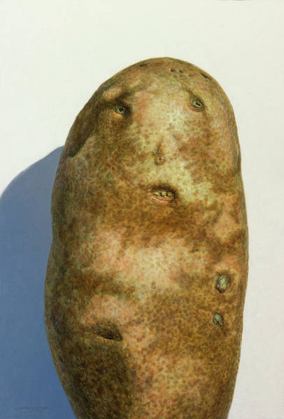 Wall Art - Painting - Portrait Of A Potato by James W Johnson
