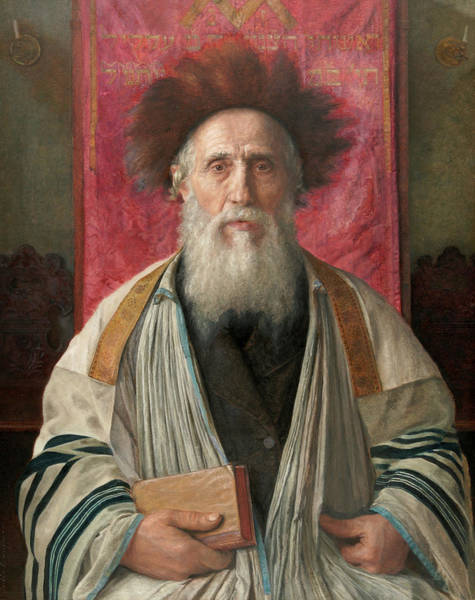 Wall Art - Painting - Portrait Of A Rabbi, 19th Century by Isidor Kaufmann