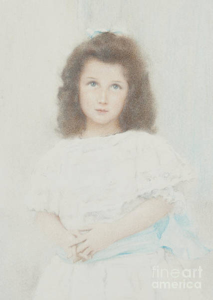 Wall Art - Pastel - Portrait Of A Renee Lambert De Rothschild, Daughter Of The Founder Of The Lambert Bank, 1907 by Fernand Khnopff