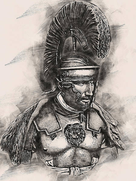 Painting - Portrait Of A Roman Legionary - 51 by Andrea Mazzocchetti