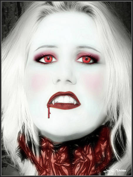 Photograph - Portrait Of A Vampire by Jon Volden