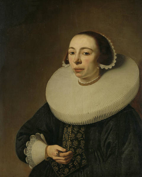 Wall Art - Painting - Portrait Of A Woman, 1638 by Pieter Dubordieu