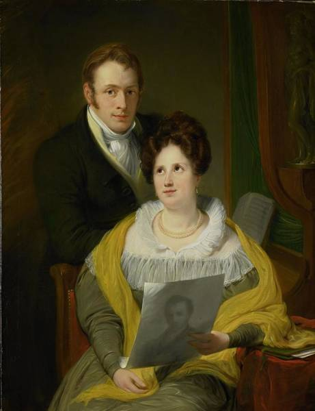 Wall Art - Painting - Portrait Of A Woman And A Man by MotionAge Designs