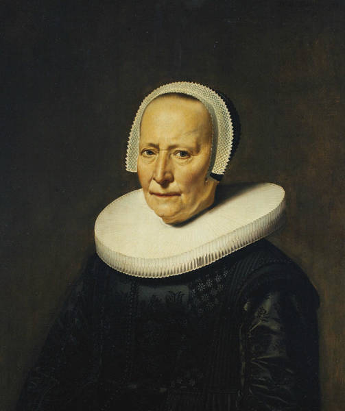 Painting - Portrait Of A Woman by Dirck van Santvoort