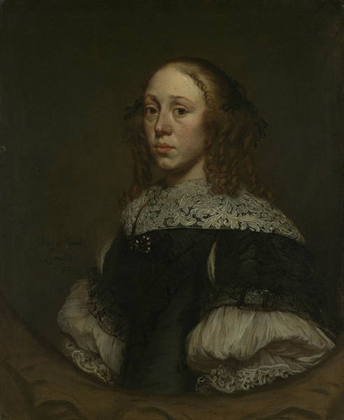 Wall Art - Painting - Portrait Of A Woman by Pieter van Anraedt