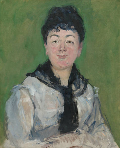 Wall Art - Painting - Portrait Of A Woman With A Black Fichu by Edouard Manet