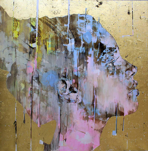 Painting - Portrait Of A Young Lady In Gold And Pink by Kasey Jones
